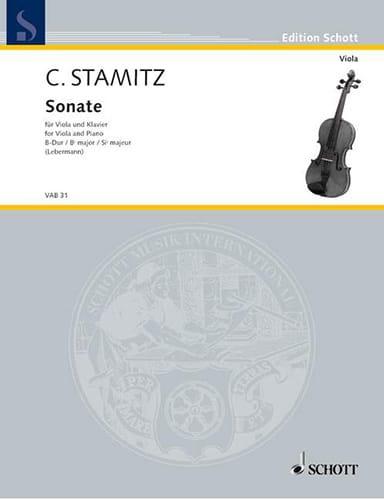 Carl Stamitz - Sonata B-Dur - Partition - di-arezzo.es