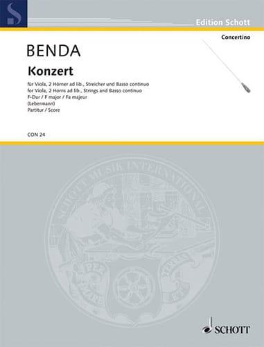 Viola-Konzert F-Dur - Georg Benda - Partition - laflutedepan.com