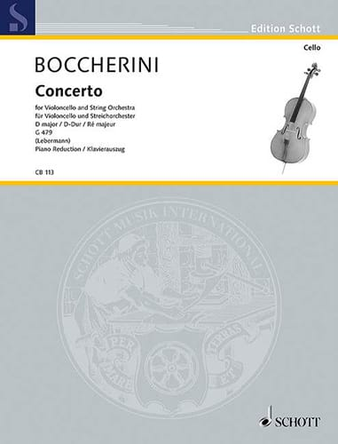 BOCCHERINI - Cello Concerto No. 2 D Major G. 479 - Partition - di-arezzo.co.uk