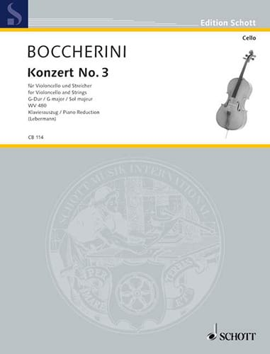 BOCCHERINI - Concerto N ° 3 for Cello - Partition - di-arezzo.co.uk