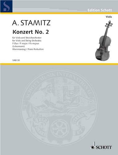 Concerto n° 2 en fa majeur - Alto - STAMITZ - laflutedepan.com