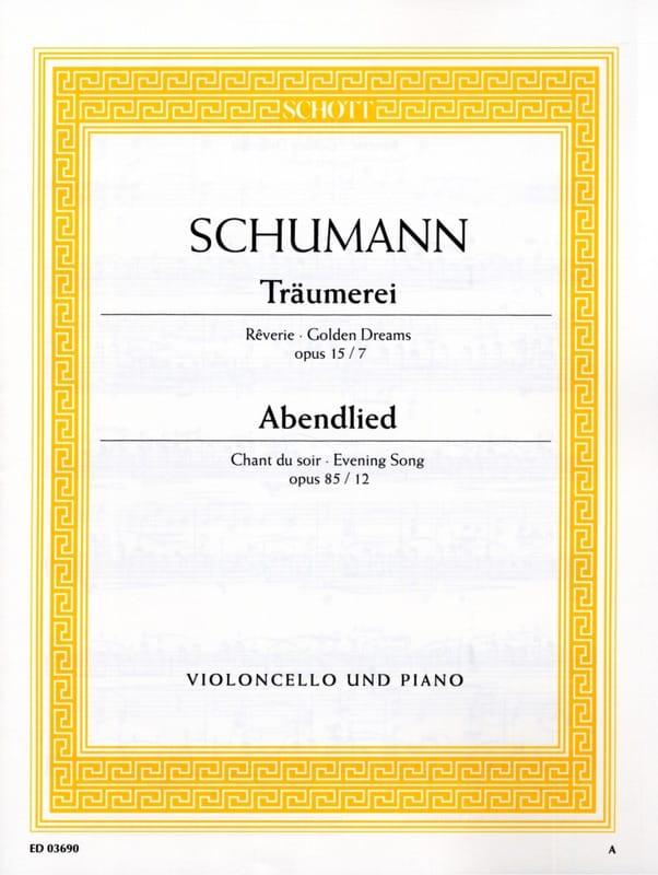 SCHUMANN - Träumerei op. 15 No. 7 / Abendlied op. 85 n ° 12 - Partition - di-arezzo.com