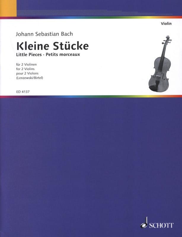 BACH - Kleine Stücke für 2 Geigen - Partition - di-arezzo.co.uk