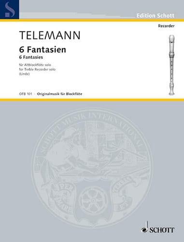 TELEMANN - 6 Fantasy - Altblockflöte solo - Partition - di-arezzo.com