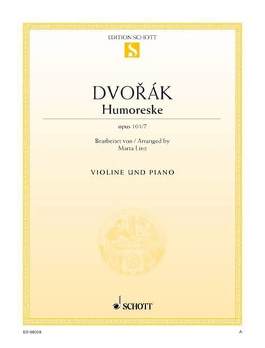 DVORAK - Humoreske op. 101 n ° 7 - Partition - di-arezzo.co.uk