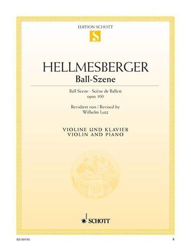Ball-Szene - Josef Hellmesberger - Partition - laflutedepan.com