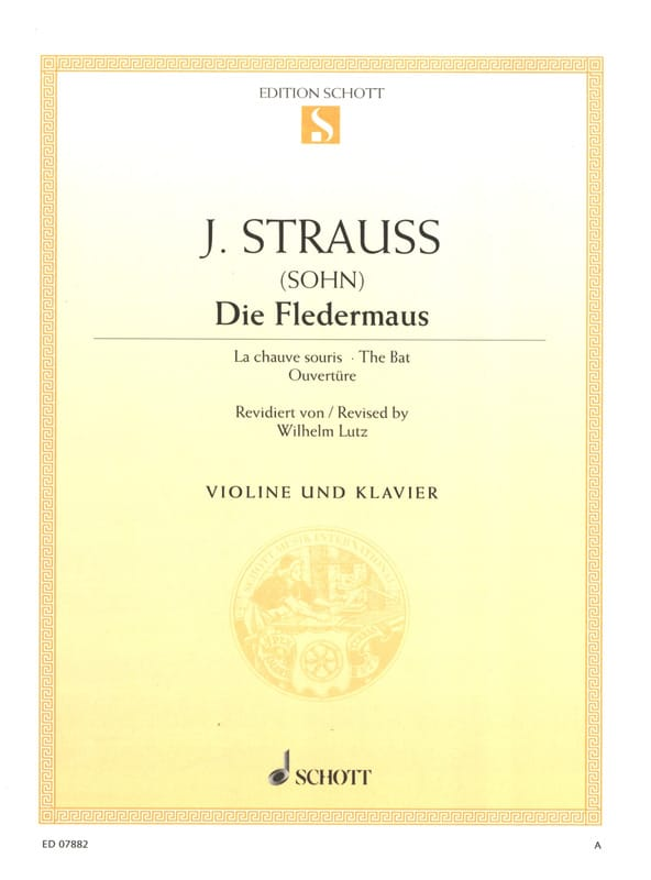 Die Fledermaus - Johann (Fils) Strauss - Partition - laflutedepan.com