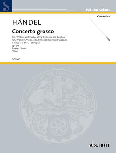 Concerto Grosso G-Dur op. 6/1 - Partitur - HAENDEL - laflutedepan.com