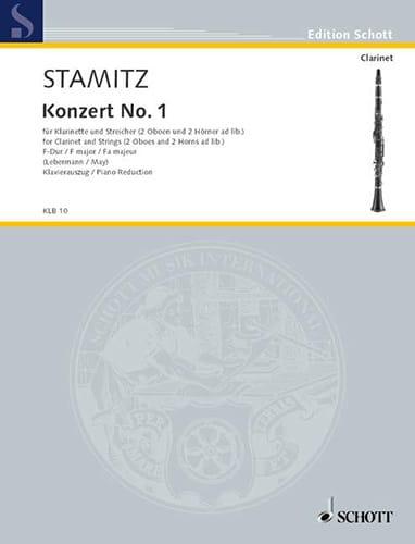 Carl Stamitz - Konzert Nr. 1 F-Hard - Klarinette Klavier - Partition - di-arezzo.co.uk