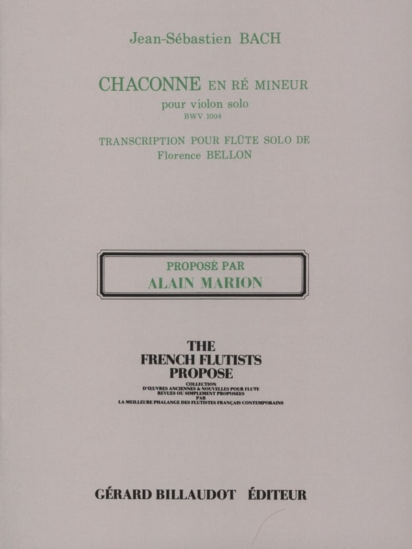 BACH - Chaconne in D Min. Bwv 1004 - Partition - di-arezzo.co.uk