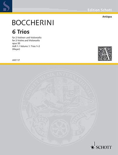 BOCCHERINI - 6 Trios, op. 35 / 1-3 - Partition - di-arezzo.co.uk