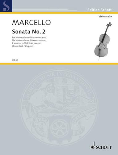 Benedetto Marcello - Sonata No. 2 in E minor - Partition - di-arezzo.co.uk