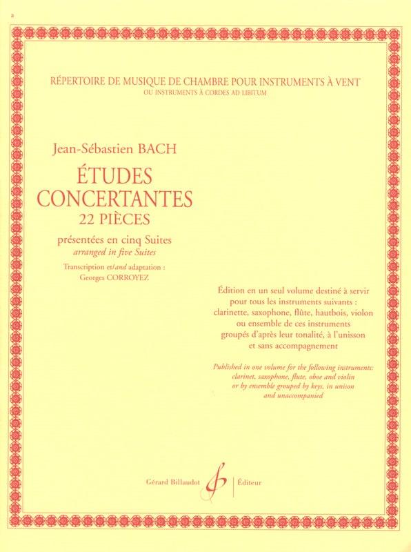 BACH - Concerted Studies - 22 Pieces - Partition - di-arezzo.co.uk