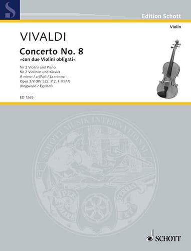 VIVALDI - Concerto a-moll op. 3 n ° 8 - 2 Violinen Klavier - Partition - di-arezzo.com