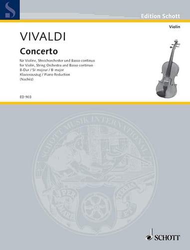 Concerto si bémol majeur - RV 379 - VIVALDI - laflutedepan.com