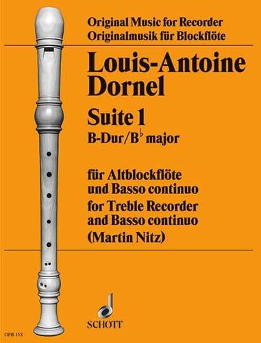 Louis-Antoine Dornel - Suite 1 B-Dur - Altblockflöte u. Bc - Partition - di-arezzo.com