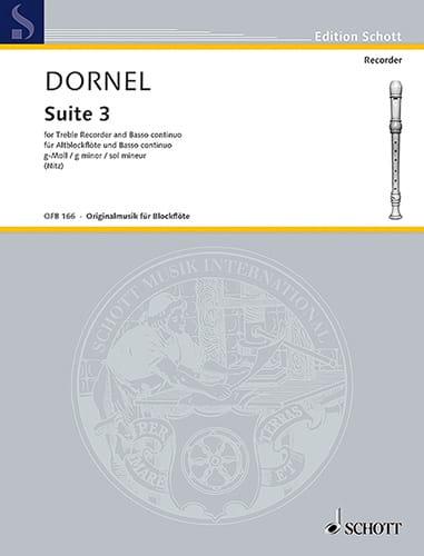 Suite III g-Moll - Louis-Antoine Dornel - Partition - laflutedepan.com