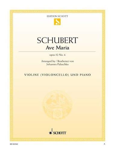 SCHUBERT - Ave Maria op. 52 n ° 6 - Partition - di-arezzo.es