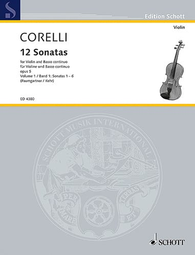 CORELLI - 12 Sonatas op. 5, Volume 1 1 to 6 Paumgartner - Partition - di-arezzo.co.uk