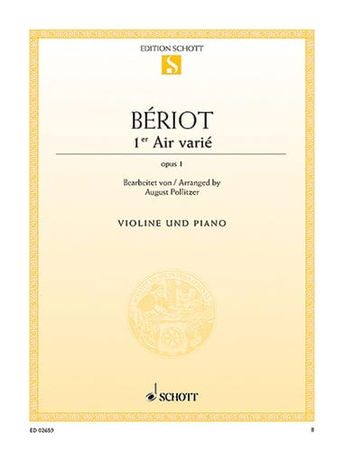 BÉRIOT - 1st Air varied op. 1 - Partition - di-arezzo.co.uk