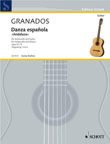 Danza espanola : Andaluza op. 37 n° 5 - Cello guitare - laflutedepan.com