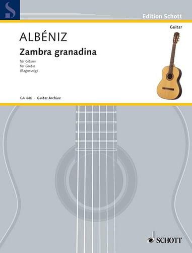 Zambra granadina - ALBENIZ - Partition - Guitare - laflutedepan.com