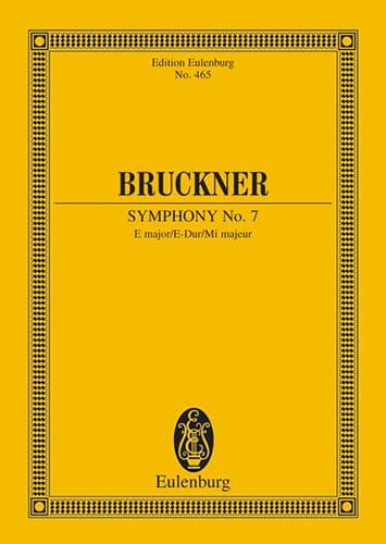 Anton Bruckner - Sinfonie Nr. 7 E-Dur - Partition - di-arezzo.co.uk