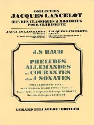 BACH - Preludes, German and Common 4 Sonatas - Clarinet - Partition - di-arezzo.co.uk