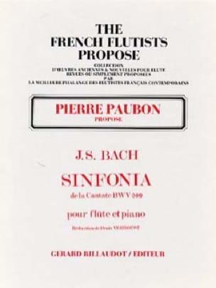 Sinfonia de la Cantate BWV 209 - Flûte piano - BACH - laflutedepan.com