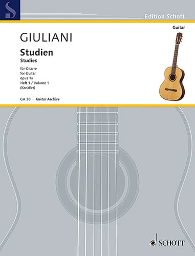 Mauro Giuliani - Opus 1A Studies - Volume 1 - Partition - di-arezzo.co.uk