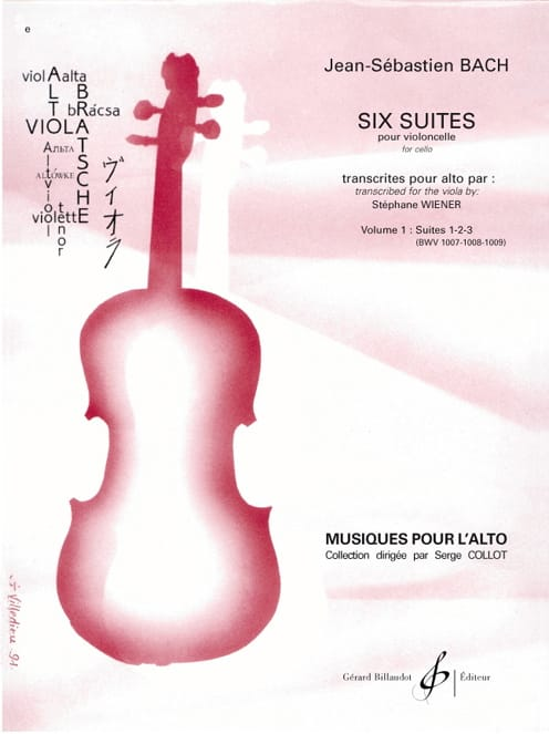 BACH - 6 Suites For Cello Vol 1 - Transcription For Viola - Partition - di-arezzo.co.uk
