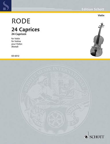 Pierre Rode - 24 Rostal Caprices - Partition - di-arezzo.co.uk
