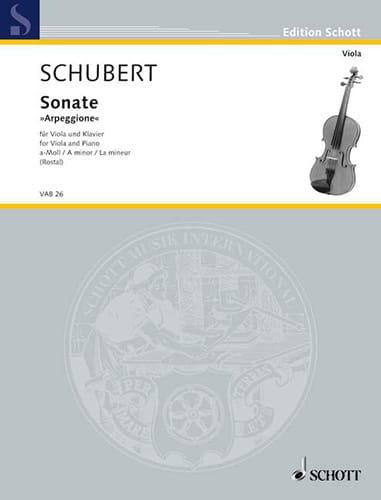 SCHUBERT - Sonata Arpeggione a-Moll D. 821 - Partition - di-arezzo.com