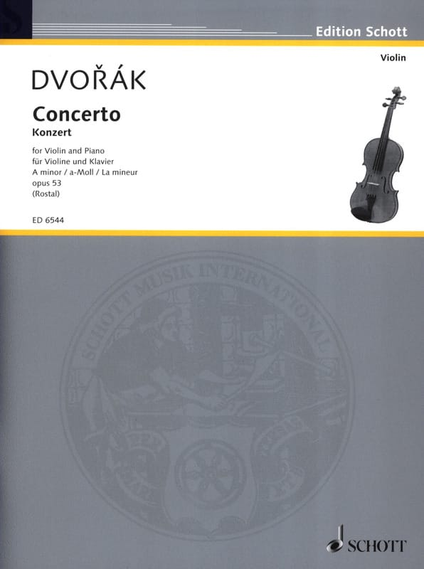 Violin-Konzert A-Moll op. 53 - DVORAK - Partition - laflutedepan.com