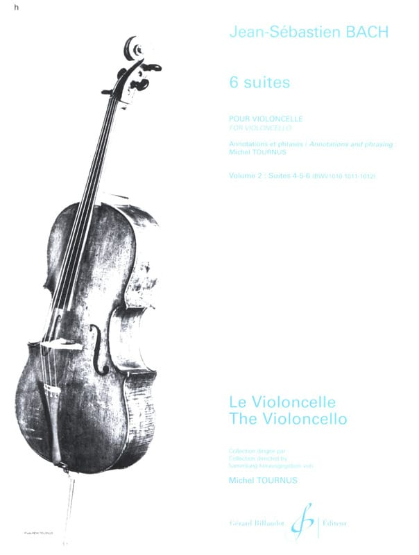 BACH - 6 Suites, Volume 2, Suites 4 à 6 - Partition - di-arezzo.fr