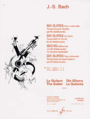 BACH - 6 Guitar Suites - Volume 1: Suites # 1, 2, 3 - Partition - di-arezzo.co.uk