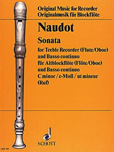 Sonata c-moll - Jacques Christophe Naudot - laflutedepan.com