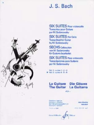 BACH - 6 Guitar Suites - Volume 2: Suites 4.5.6 - Partition - di-arezzo.co.uk