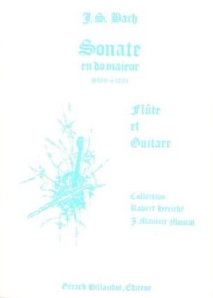 Sonate en do majeur BWV 1033 - Flûte guitare - BACH - laflutedepan.com