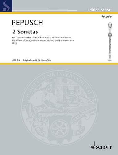 Johann Christoph Pepusch - 2 Sonaten - Altblockflöte u. Bc - Partition - di-arezzo.co.uk
