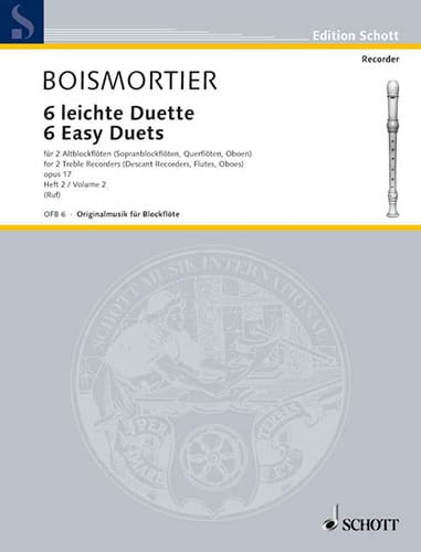 6 Leichte Duette op. 17, Bd. 2 - 2 Altblockflöten - laflutedepan.com