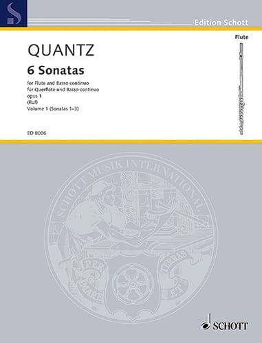 Johann Joachim Quantz - 6 Sonatas op. 1 - Bd. 1 - Flute and Bc - Partition - di-arezzo.co.uk