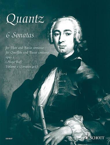 Johann Joachim Quantz - 6 Sonatas op. 1 - Bd. 2 - Flute and Bc - Partition - di-arezzo.co.uk