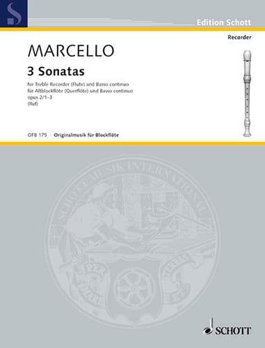 3 Sonaten op. 2, Nr. 1-3 - Altblockflöte u. Bc - laflutedepan.com