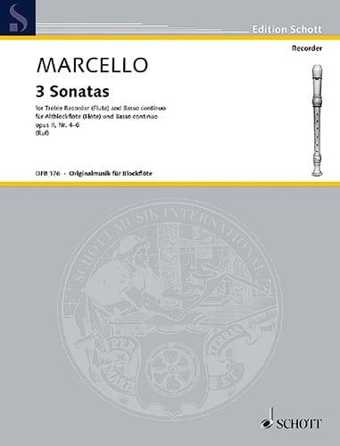 3 Sonaten op. 2, Nr. 4-6 - Altblockflöte u. Bc - laflutedepan.com