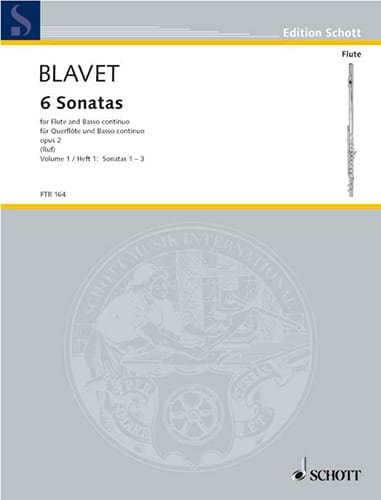 Michel Blavet - 6 Sonatas Opus 2 - Volume 1 - Partition - di-arezzo.co.uk
