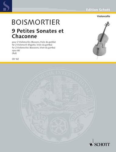 BOISMORTIER - 9 Small Sonatas and Chaconne, op. 66 - Partition - di-arezzo.com