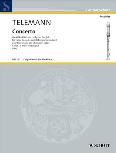 Concerto C-Dur -Altblockflöte u. obligates cembalo - laflutedepan.com