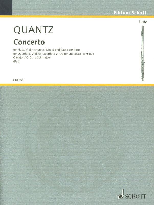 Concerto G-Dur -Flöte, Violine Flöte, Oboe u. Bc - laflutedepan.com