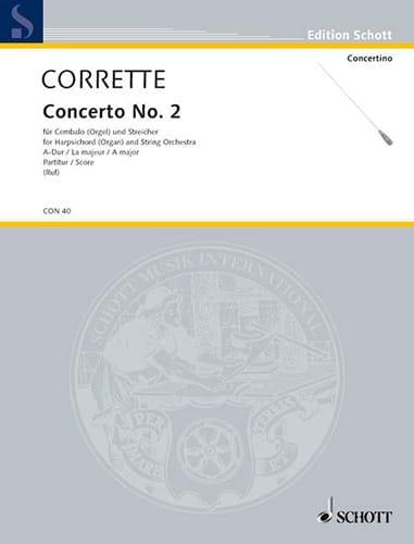 Michel Corrette - Concierto No. 2 en A major - Partition - di-arezzo.es